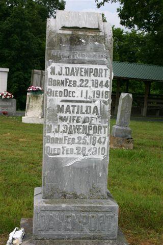 Newton John Davenport gravesite