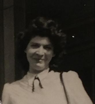 Margaret (nee Stawnychka) Rekush. Photo taken at the CNR station in Hamilton ON in the 1950s.