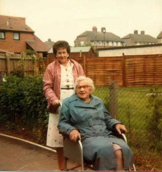 Margaret Ann Bridge and her mother Sybil (Nee Platts)