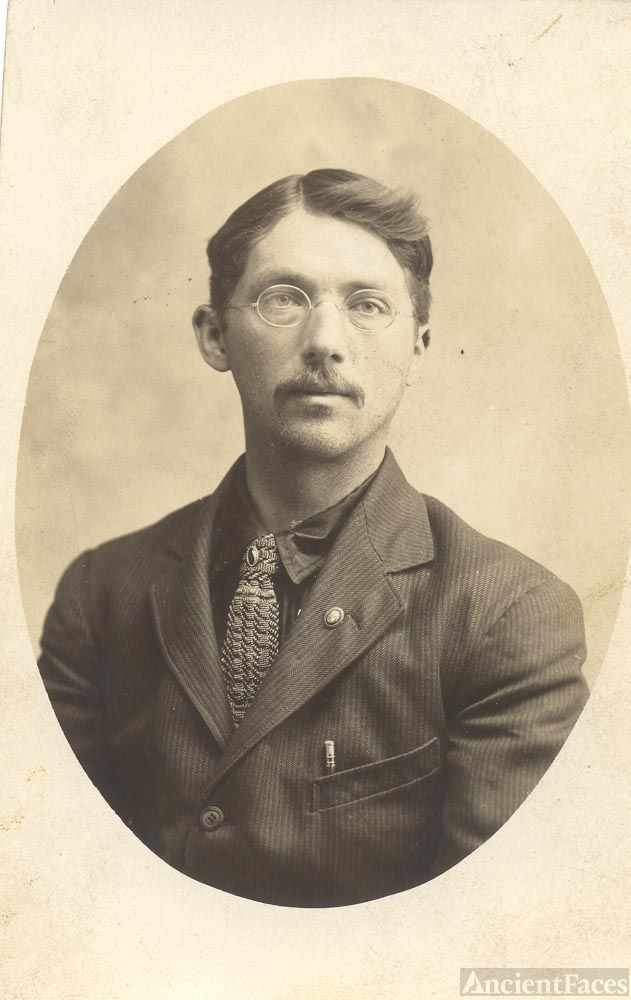 Young Man with Glasses,Sepia