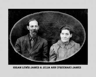 Hiram Lewis James & Julia Ann Freeman