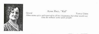 Alma Claire (Hall) Lee, Pennsylvania 1930