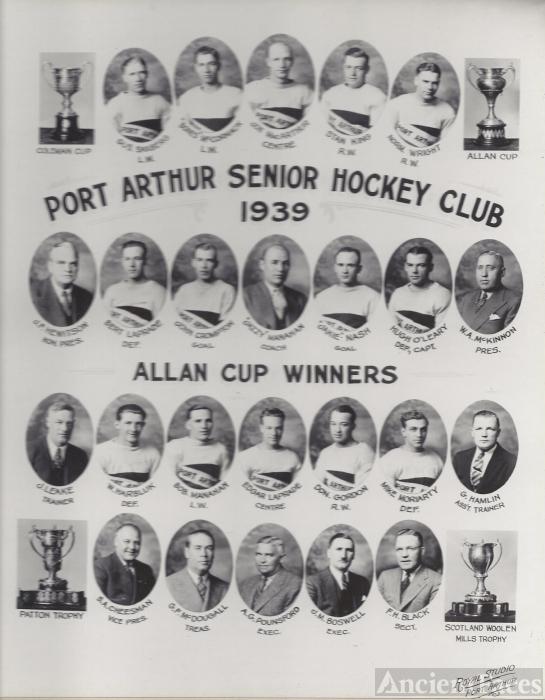 Port  Arthur  Canada Hockey Club 1939