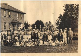 Stavanger Boarding School First Homecoming Picnic June 16, 1928 Imagine 1