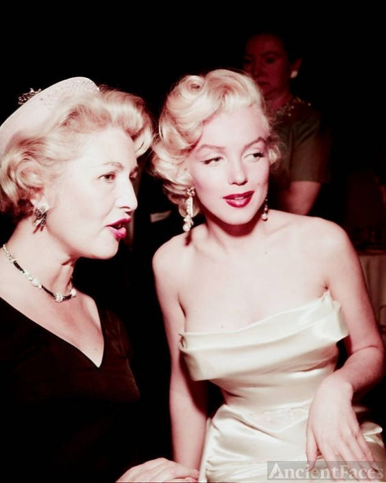 Sheilah Graham and Marilyn Monroe