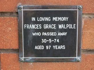Frances Grace Walpole memorial