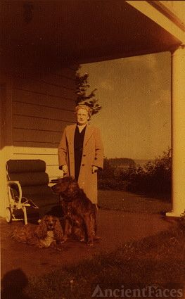 Mary Ann Tasker with dogs