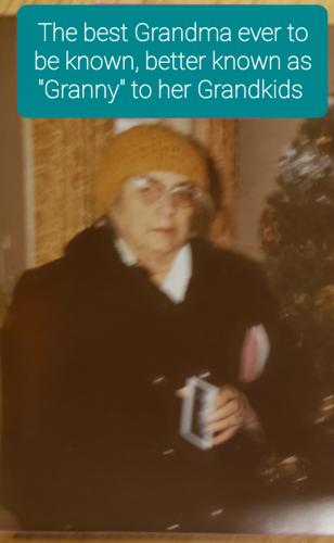 Granny around Christmas time