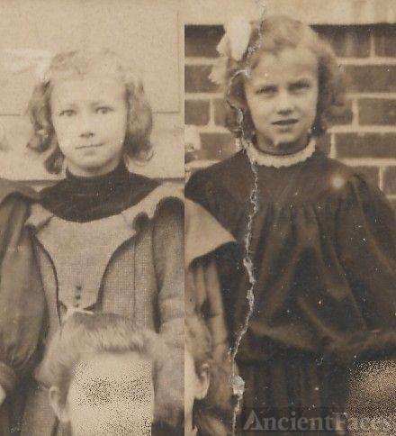 Margaret and Ruth Eagles, schoolgirls
