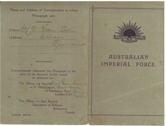 William Valentine Steele, Australian Imperial Force