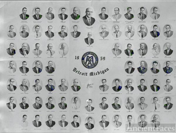 Mack Avenue Business Men's Club - Detroit Michigan 1959