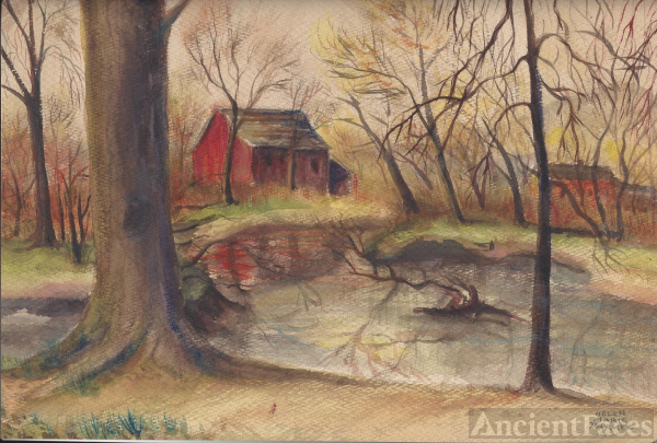 Helen Marie Parker autumn water color