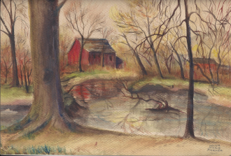 Helen Marie Parker autumn water color