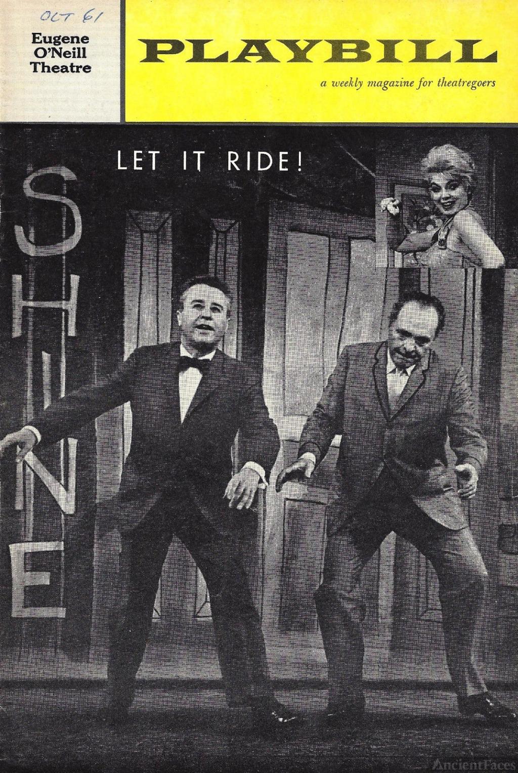 Dort W Clark playbill for Let It Ride!