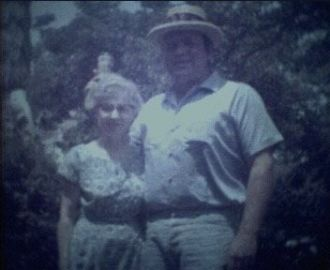 Aunt Ardis and Hoss from the show Bonanza