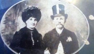Mr & Mrs Asa John Harper ca 1885