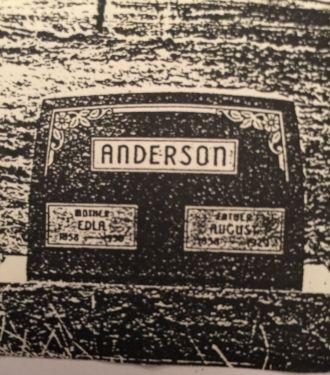 Gravesite for Edla and Gust Anderson