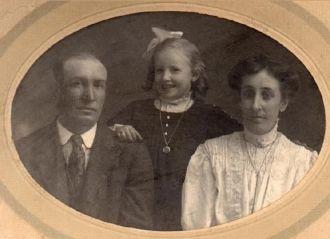George, Doris, and Bertha (Heisler) Leham