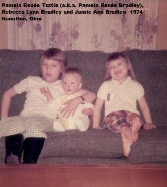 Pam, Becky and Jamie Bradley, 1974