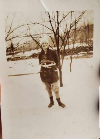 Charlotte Helen (Taft) Covello Ice Skating