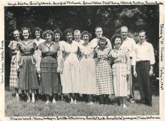 Class of 1939, Harris High School, Petersburg, IL 10th reunion