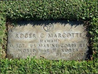 Roger C. Marcotte Grave Marker, HI