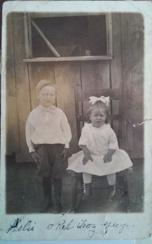 Opal Yeager Watts and her Brother Oral Watts