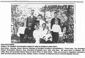 Robert M Condley & Elizabeth Ann Eddy Family