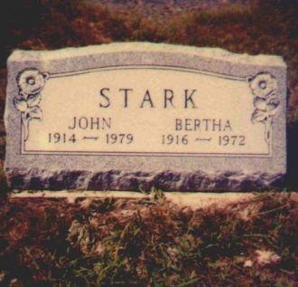 John & Bertha Stark Gravestone