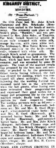 John Kluck & Ellen Steele wedding announcement