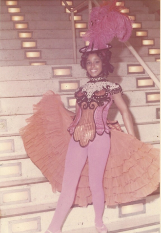 Alice Clark in Costume.