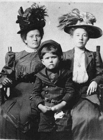 Ada, Ruel & Effie Gray, Oklahoma c1910
