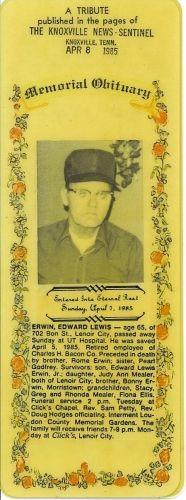 Obituary for Edward Erwin