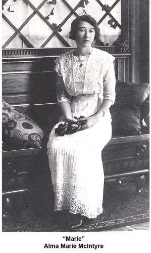 Alma Marie McIntyre, Nebraska 1917