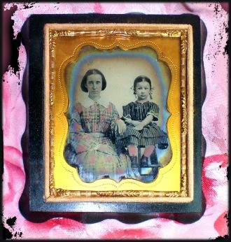 Ambrotype of Mother and Child 1860
