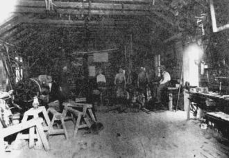 Inside Leander Peart's Blacksmith Shop Richmond Ut