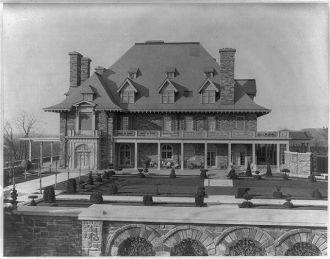 House of John D. Rockefeller - South front & formal garden