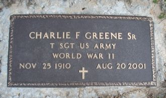 Charlie F Greene gravesite