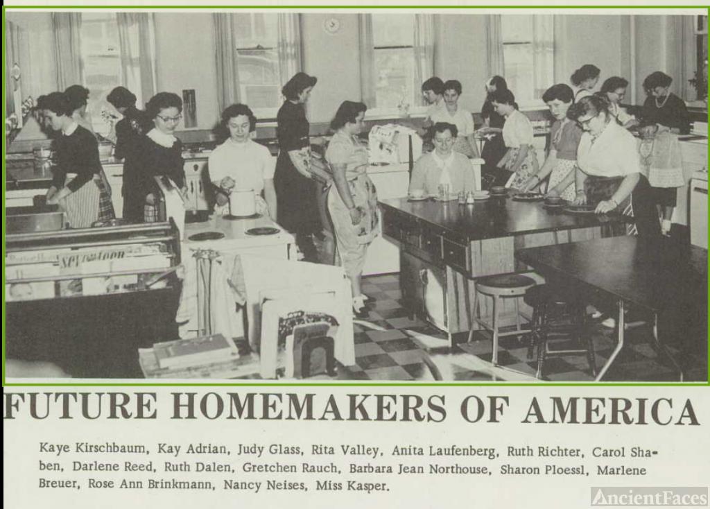 Carol Lee Shaben-Wentz--U.S., School Yearbooks, 1900-1999(1958)Future Homeowners of America