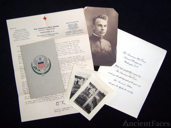 American Red Cross burial packet