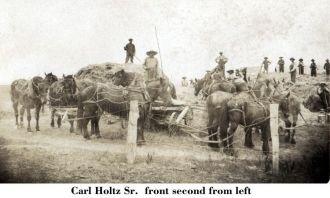 Carl W Holtz Sr. & neighbors, Iowa