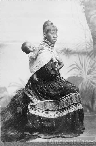 """Seminole squaw and child"""