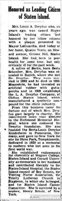 Berta Dreyfus obituary