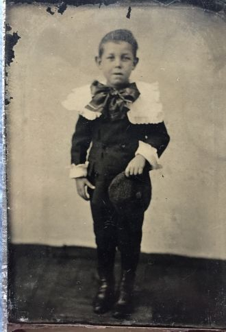 Unknown boy tintype