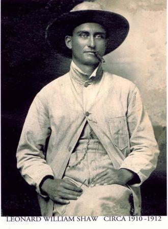 Leonard William Shaw, 1910