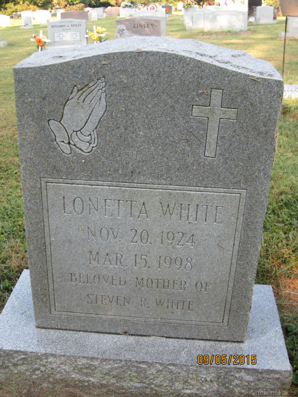Lonetta White Gravesite