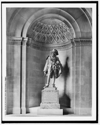 Statue of Sir Henry Vane, Boston Public Library