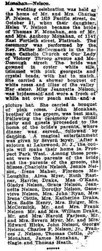 Monahan-Nelson wedding announcement