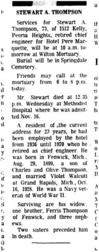 Charles James Thompson Obituary