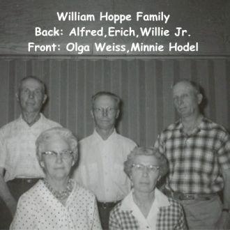 Children of Will and Bettie Englebrecht Hoppe